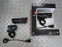ブラックバーン スコーチ1.0 カラー/ブラック 重量/120g 本体価格¥6,500 コンパクトでスタイリッシュ、超高輝度ホワイトLEDを使用した、乾電池不要のUSB充電式リチウム フロントライトです。 CNC加工 アルミニウムボディのライト本体と、付属のブラケット、マグネット式USBスマートチャージャー。 ボタンを押すごとに、ハイモード・スタンダード・フラッシュの3モードに切り替わります。 …[Posted at 14/05/02]